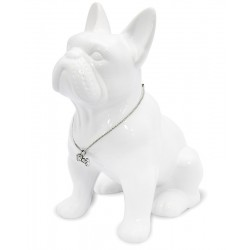 Pes Buldoček biely 22cm