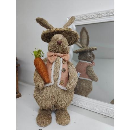 Zajac slama v klobúku 50cm